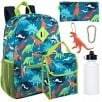 6-in-1 Kids Backpack Sets for $10 each: Dinosaurs, Ice Cream/Unicorns, More