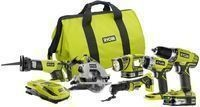 6-Tool Ryobi 18-Volt ONE+ Lithium-Ion Ultimate Combo Kit