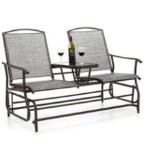 60% off 2-Person Mesh Double Glider w/ Table + Free Shipping