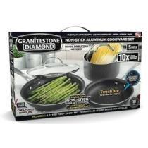 60% off Granite Stone Diamond Ultimate Non-stick 5-Piece Kitchen Cookware Set