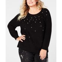 60% off Inc Plus Size Rhinestone-Embellished Sweater