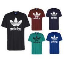 61% off Adidas Men's Short-Sleeve Trefoil Logo Graphic T-Shirt + Free Shipping