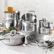 61% off Tri-Ply Stainless Steel 15-Pc Set