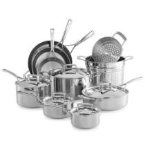 61% off Tri-Ply Stainless Steel 15-Piece Set