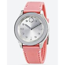 62% off Movado Bold Silver Dial Pink Silicone Ladies' Watch