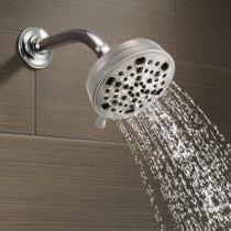 63% off Delta 5-Spray H20 Kinetic Brushed Nickel Shower Head