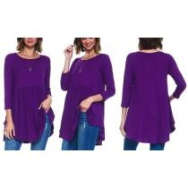 63% off Isaac Liev Women's Quarter Sleeve Ruched Top