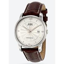 63% off Mido Baroncelli III Automatic Silver Dial Brown Leather Men's Watch
