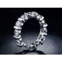 64% off 18k White Gold Round Cut Eternity Band