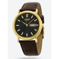 64% off Citizen Eco Drive Black Dial Brown Leather Men's Watch