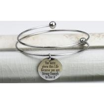 64% off Pink Box Double-Wrap Stainless Steel Inspirational Bangles