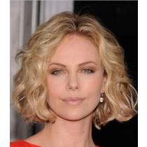 65% off Charlize Theron Short Wavy Lace Front Wigs + Free Shipping