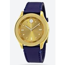 65% off Movado Bold Gold Dial Blue Silicone Ladies' Watch