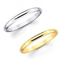 65% off Solid 14K Gold Comfort Fit Unisex Wedding Band Ring
