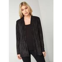 66% off Black Glitter Detail Jacket
