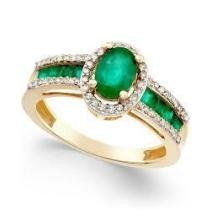 67% off Emerald 1-1/3 ct. t.w. & Diamond 1/4 ct. t.w. Ring in 14k Gold