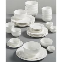 67% off Gibson White Elements Lexington 42-Piece Dinnerware Set
