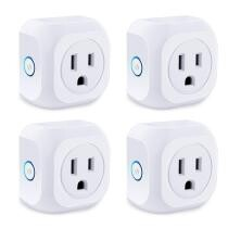 67% off Smart Plug 4 Pack Wifi Enabled Mini Outlets + Free Shipping