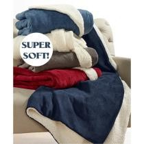 67% off Super Soft Sherpa Throw Blanket