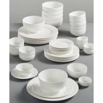 68% off Gibson White Elements Dinnerware 42 Piece Set
