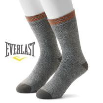69% off 18 Pairs of Men's Everlast Ring Spun Cotton Thermal Socks