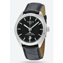 69% off Tissot PR100 Black Dial Black Leather Men's Watch