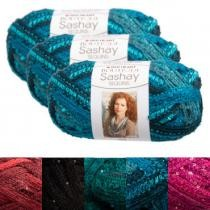 70% off 3-Pack Red Heart Boutique Sashay Sequins Super Bulky Yarn