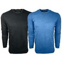 70% off Ethan Williams Men's Ultra Soft Sueded Long Sleeve Tees, 2-Pack