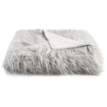 "70% off Martha Stewart Collection Faux Mongolian Fur 50"" x 60"" Throw"