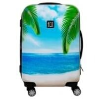 "70% off Sunset Photo 21"" Hard Side Rolling Luggage + Free Shipping"