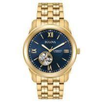 72% off Bulova Men's 97A131 Automatic Gold Tone Bracelet Watch + Free Shipping