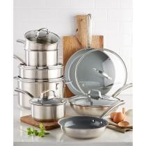 72% off Culinary Science by Martha Stewart Collection 14-Piece Cookware Set