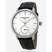 72% off Frederique Constant Slimline Automatic Silver Dial Black Leather Watch