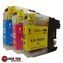 73% off Brother LC105 3-Set Compatible Super High Yield Ink Cartridges