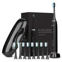 74% off AquaSonic Ultrasonic Toothbrush w/ 8 Dupont Brush Heads and Travel Case