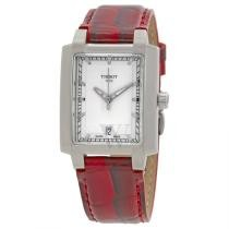 74% off Tissot Women's TXL Leather Silver-Tone Dial Watch