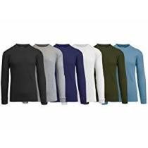 75% off 6-Pack Galaxy by Harvic Men's Long Sleeve Thermals Tees