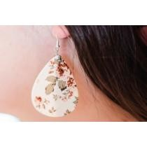 75% off Floral Leather Earrings