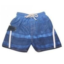 75% off Quad Seven Little Boys Blue Ombre Striped Drawstring Tie Swim Trunks