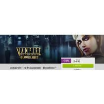 75% off Vampire The Masquerade Bloodlines Game