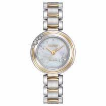75% off Women's Citizen Eco-Drive Carina EM0464-59D Diamond Accents Two-Tone 28mm Watch