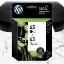 76% off 2-Pack: HP 65 Black & Tri-color Ink Cartridges