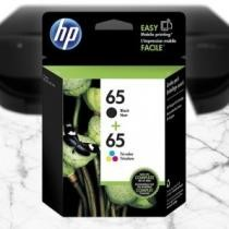 76% off 2-Pack: HP 65 Black & Tri-color Original Ink Cartridges