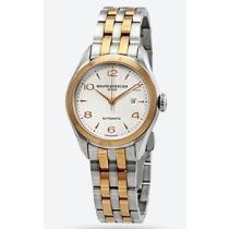 76% off Baume Et Mercier Clifton Two Tone Automatic Silver Dial Ladies' Watch