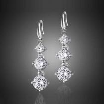 76% off Graduated Drop Earrings w/ Swarovski Crystals