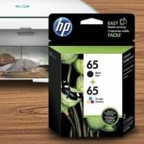 78% off 2-Pack: HP 65 Black & Tri-color Original Ink Cartridges