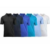 78% off 6-Pack Blu Rock Men's Pique Polo Shirts
