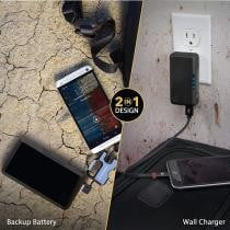 79% off 2-in-1 USB Wall Charger & Portable Battery Pack + Free Shipping