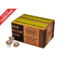 80 count K-cups, Neighborhood Social, Warm Welcome Blend Medium Roast Gourmet Coffee, $12.57, Free Prime shipping at WOOT ($.157/cup)