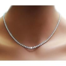 80% off 42.00 CTTW Cubic Zirconia Tennis Necklace + Free Shipping